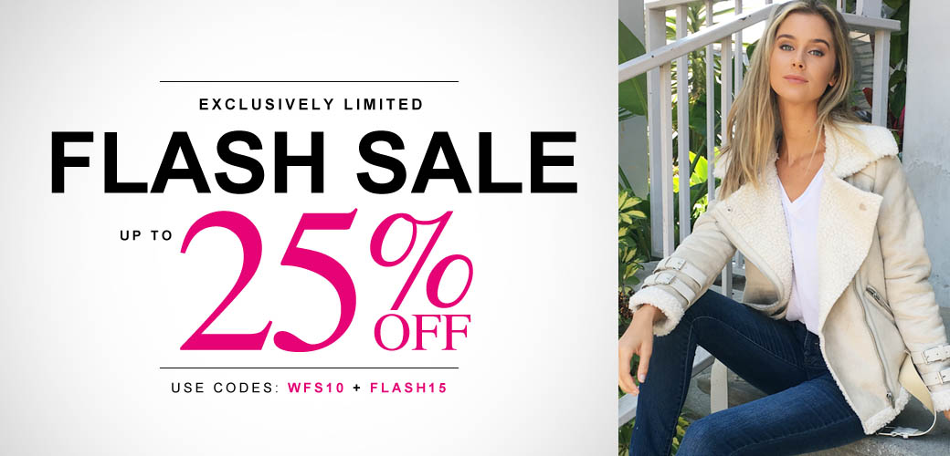 Flash Sale - Up to 25% Off Our Hottest Items