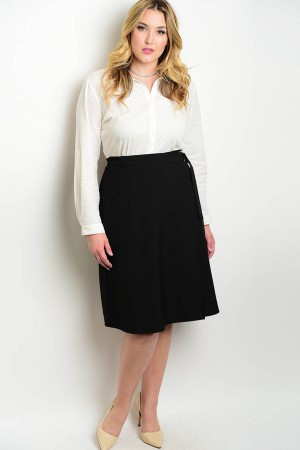 107-4-3-S92530X BLACK PLUS SIZE SKIRT 3-2