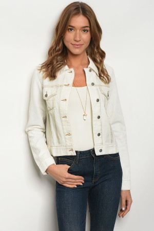 S10-19-2-NA-J70123 WHITE DENIM JACKET 3-2-1