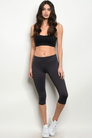 S2-8-4-CPB0040LC CHARCOAL CAPRI ATHLETIC PANTS 1-2-2-1