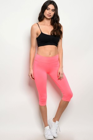 S2-8-4-CPB0040LC PINK CAPRI ATHLETIC PANTS 1-2-2-1