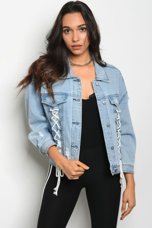 S10-17-2-J0006 LIGHT BLUE DENIM JACKET 2-2-2