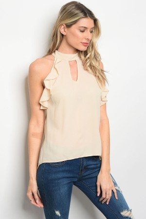 C27-B-3-T1992 TAUPE TOP 2-2-2