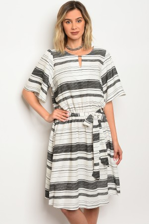 C79-A-3-D3144 OFF WHITE BLACK DRESS 2-2-2