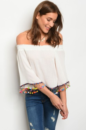 124-1-1-T3907 OFF WHITE TOP 2-2-2