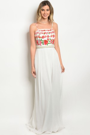 S4-2-5-D08950 WHITE WITH FLOWER PRINT DRESS 2-2-1