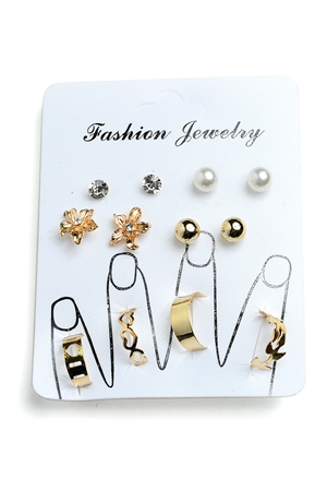 201-4-4-RN5238 MULTI SHAPE STONE & PEARL RINGS/12PCS