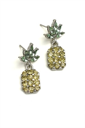 204-3-5-RER0458GS PINEAPPLE SHAPE EARRINGS/12PCS