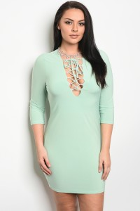C15-A-D40131X MINT PLUS SIZE DRESS 2-2-2