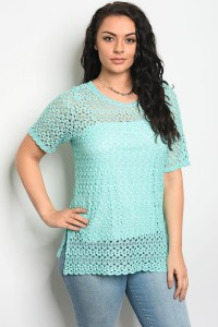 C92-B-6-T5810X MINT PLUS SIZE TOP 2-2-2