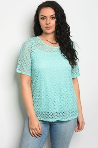 C94-B-7-T5811X MINT PLUS SIZE TOP 2-2-2