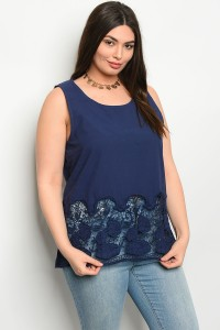 S10-2-1-T51166X ROYAL PLUS SIZE TOP 2-2-2