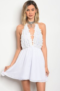 S14-2-5-D8417 WHITE IVORY CROCHET DRESS 3-2-1
