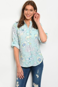 S8-2-4-T332610 AQUA BLUE YELLOW TOP 2-2-2