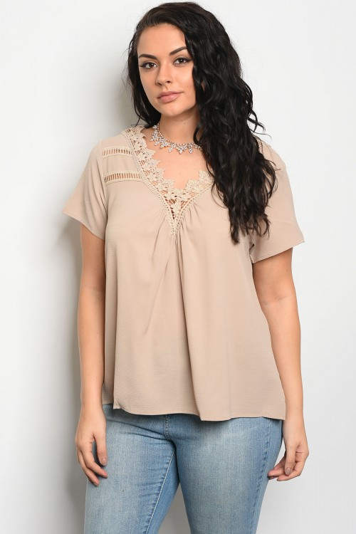 104-6-4-T3266X TAUPE PLUS SIZE TOP 2-2