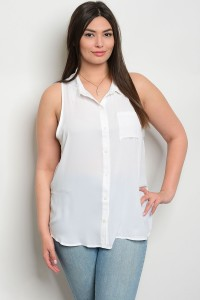 S9-17-1-TZ7917X OFF WHITE PLUS SIZE TOP 2-2-2
