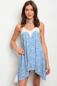 108-5-4-D10029 LIGHT BLUE WITH FLOWER DRESS 3-2-1