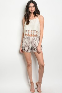 C26-B-6-NA-S2704 IVORY BROWN SHORT 3-2-1