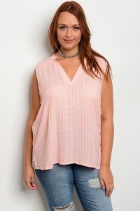 110-1-1-T7838X BLUSH PLUS SIZE TOP 2-2-2