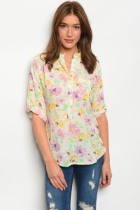 105-1-3-T332611 IVORY FLORAL TOP 2-2