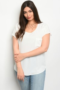 S11-7-2-TZB7689X OFF WHITE PLUS SIZE TOP 2-2-2