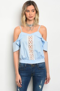 S10-19-1-T2310 LIGHT BLUE POPLIN TOP 2-2-2