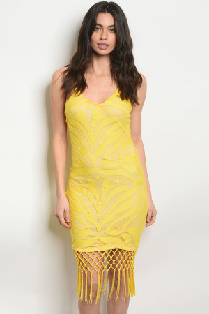 117-3-1-D8436 YELLOW NUDE DRESS 2-2-2