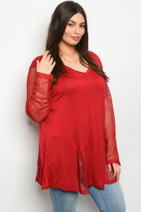 S9-11-1-T229X WINE PLUS SIZE TOP 2-2-2