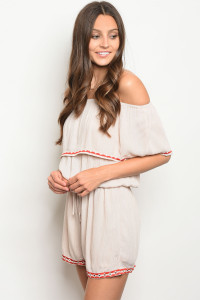 131-2-1-RPB037 TAUPE OFF SHOULDER ROMPER 2-2-2