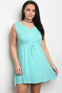 S10-14-1-D2240X MINT PLUS SIZE DRESS 2-2-2