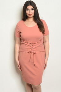 C60-A-1-D4958X MAUVE PLUS SIZE DRESS 2-2-2