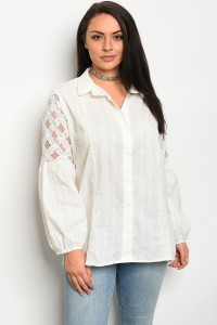S10-17-2-T70248X OFF WHITE PLUS SIZE TOP 3-2-1