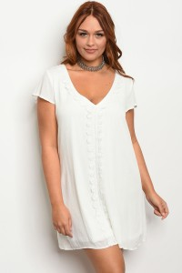 103-4-2-D3962X WHITE PLUS SIZE DRESS 3-2-3