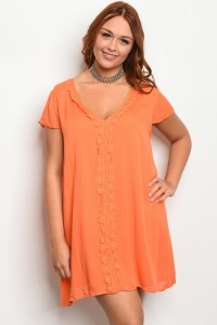 S9-11-2-D3962X ORANGE PLUS SIZE DRESS 2-2-2