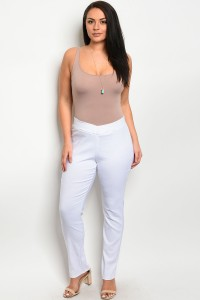 C23-A-1-P4241X WHITE PLUS SIZE PANTS 3-1