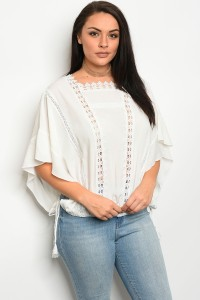 S10-7-2-T16741X OFF WHITE PLUS SIZE TOP 2-2-2