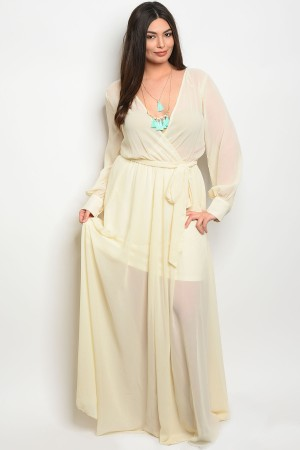 119-1-2-D14960X IVORY PLUS SIZE DRESS 2-2-2