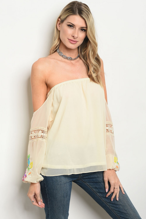 105-5-3-T8672 CREAM BIRD PRINT TOP 3-3