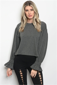 S11-10-5-T23559 CHARCOAL SWEATER 2-2-2