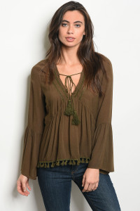 S8-11-3-T7257 OLIVE TOP 2-2-2
