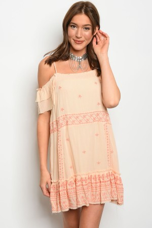 109-6-1-D9627 LIGHT PEACH DRESS 2-2-2