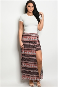 C9-A-1-S8421X BLACK RUST PLUS SIZE SKIRT 1-1-1