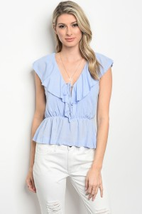 C79-B-3-T2195 LIGHT BLUE TOP 3-2-1