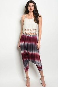 119-3-5-P9035 GRAY BURGUNDY TIE DYE PANTS 1-1-1-1
