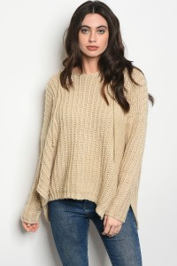 S8-5-3-S0050 CREAM KNIT SWEATER 4-2
