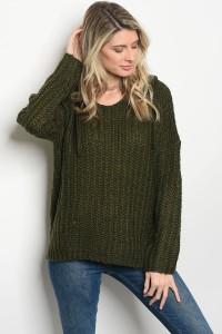 S8-4-5-S0050 OLIVE KNIT SWEATER 4-2