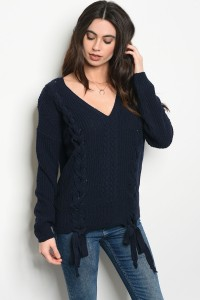 127-3-1-S0053 NAVY SWEATER 3-2-1