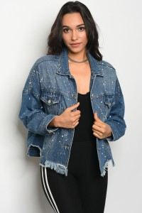 S12-11-2-J0002 DARK BLUE DENIM JACKET 2-2-2