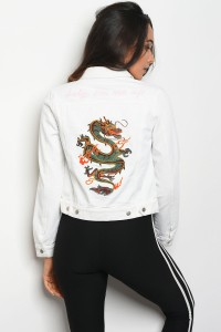 C43-B-1-NA-J0123 WHITE DENIM JACKET 3-2-1