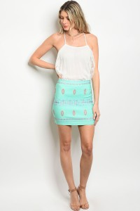 239-1-1-S102 MINT CORAL SKIRT 2-2-2